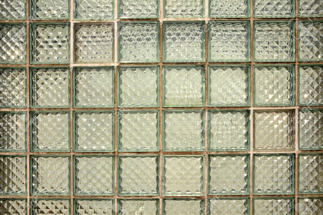 Glass Block Tiles Wall Background Stock Photo   65015566
