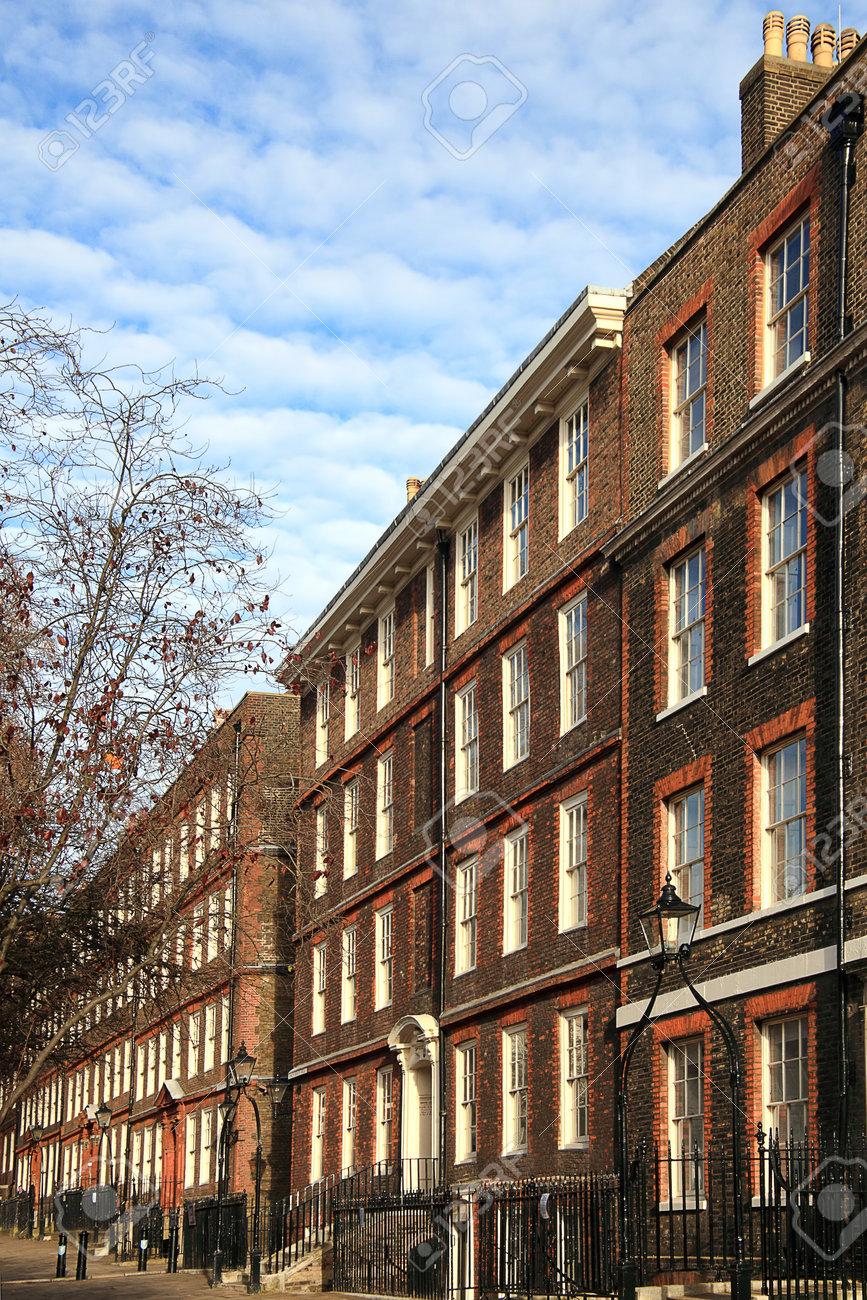Londres Reino Unido 9 De Diciembre De 2010 Regency Georgiana Terrazas Barrister Cámaras Bufetes De Abogados En Los Inns Of Court En The Temple En