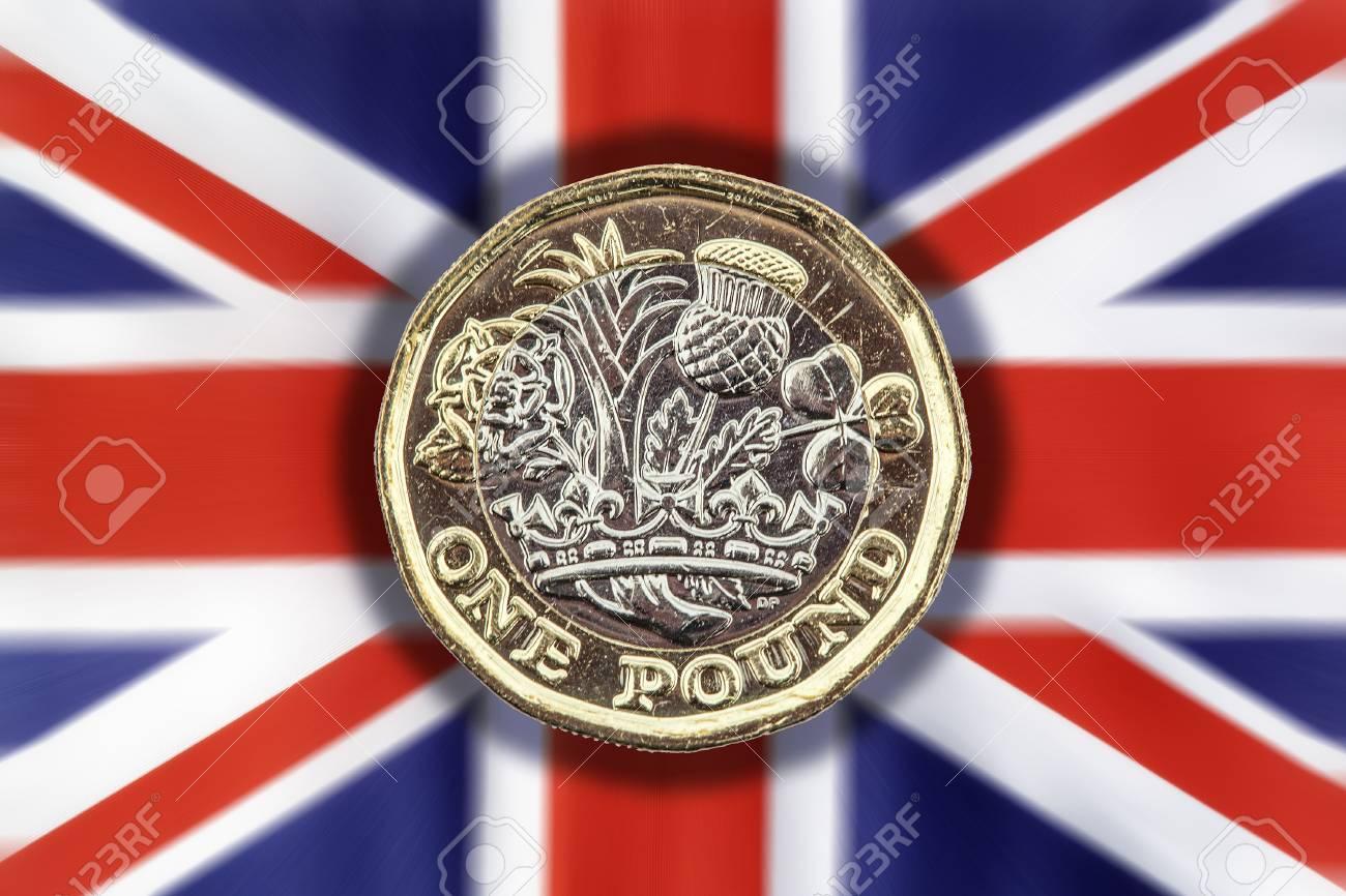 Neue Eine Pfund Münze Von England Uk In 2017 Die Die Animation Der