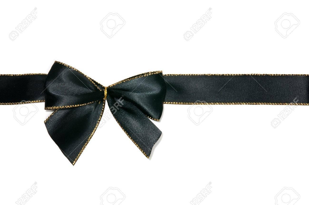 Black Ribbon Bow elegant black bow white