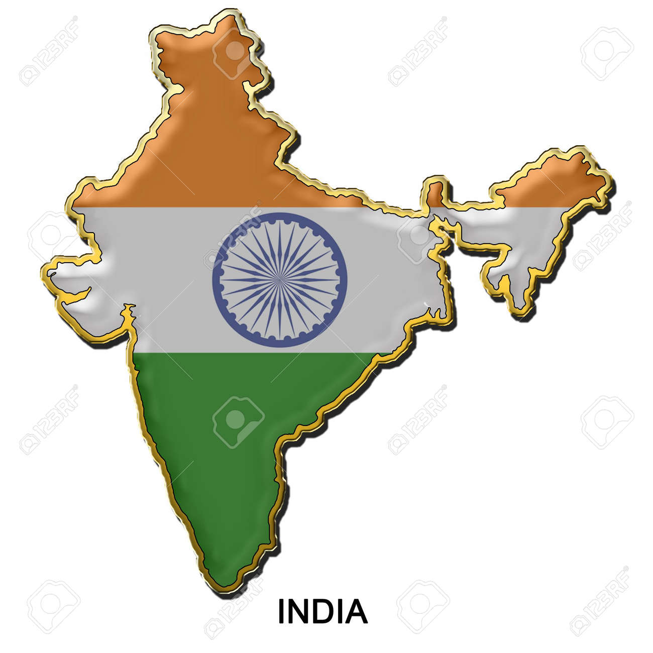Map shaped flag of india in the style of a metal pin badge stock map shaped flag of india in the style of a metal pin badge stock photo gumiabroncs Choice Image