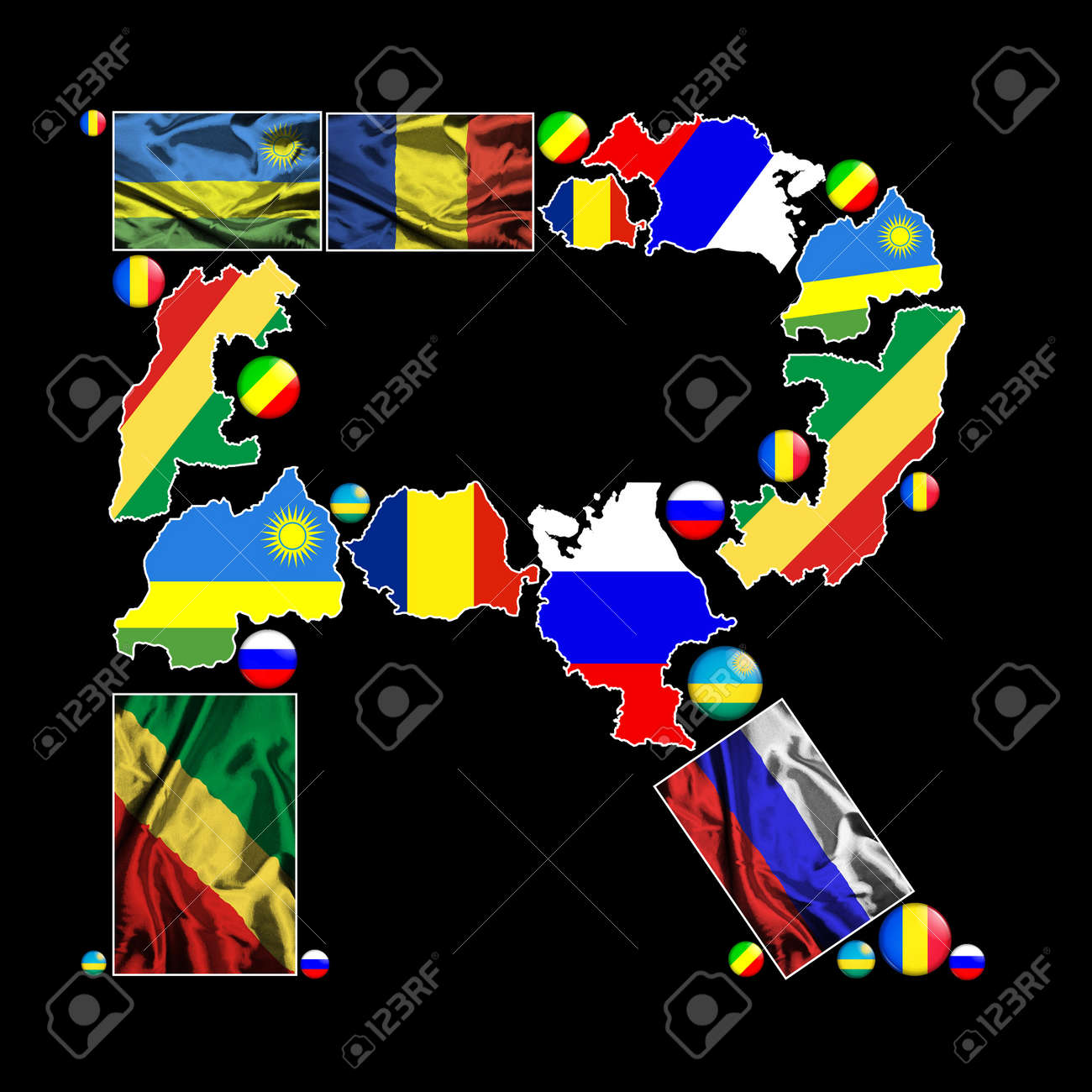 Flag maps flag badges and fabric flags of all the countries stock flag maps flag badges and fabric flags of all the countries in the world starting gumiabroncs Choice Image