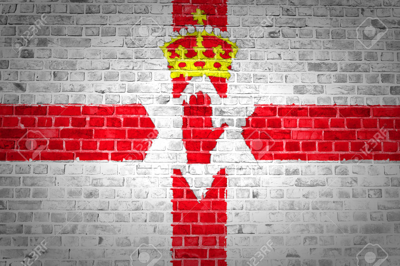 An image of the Northern Ireland flag painted on a brick wall in an urban location Stock Photo - 12422758