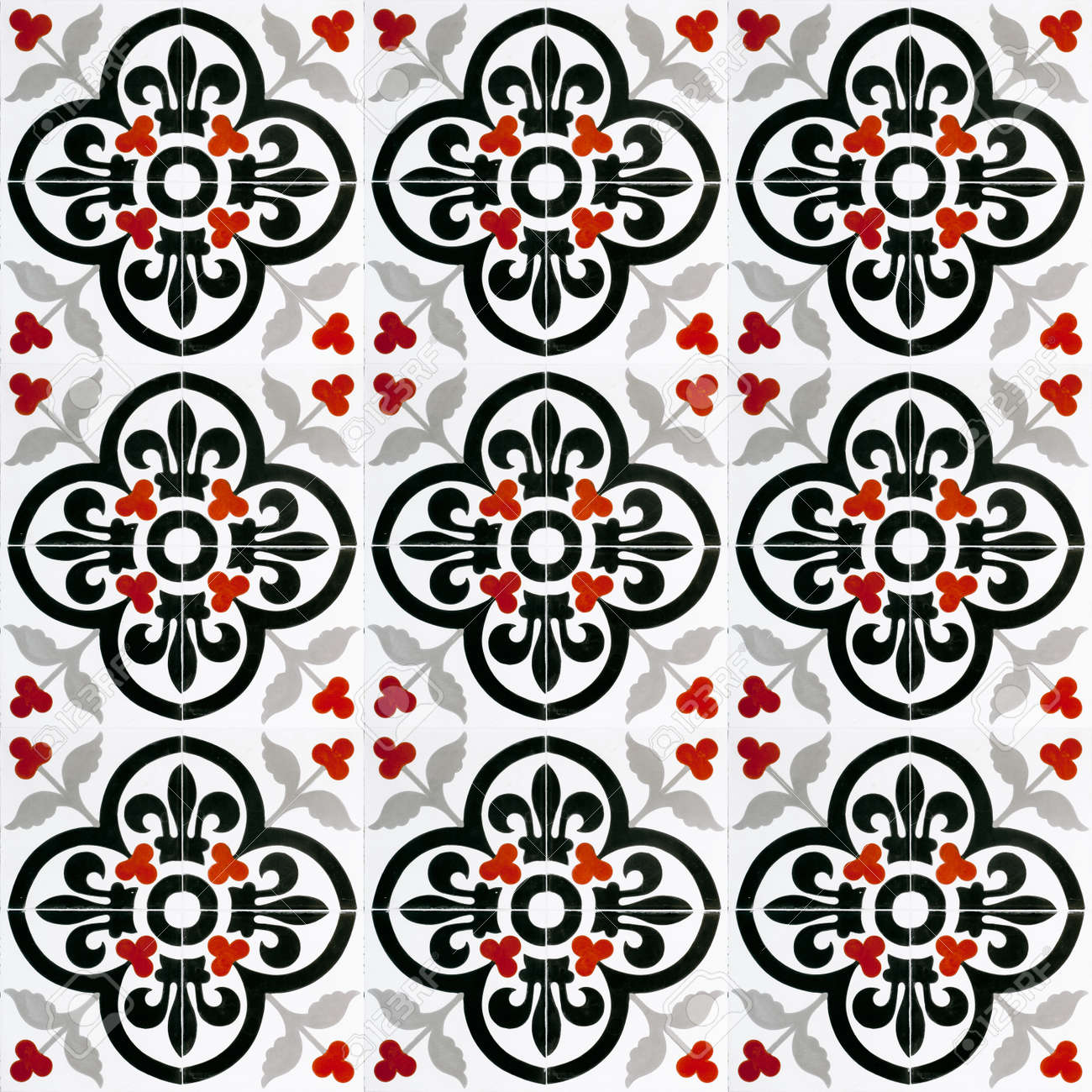 A Seamless Background Image Of Patterned Ceramic Tiles For Your ...