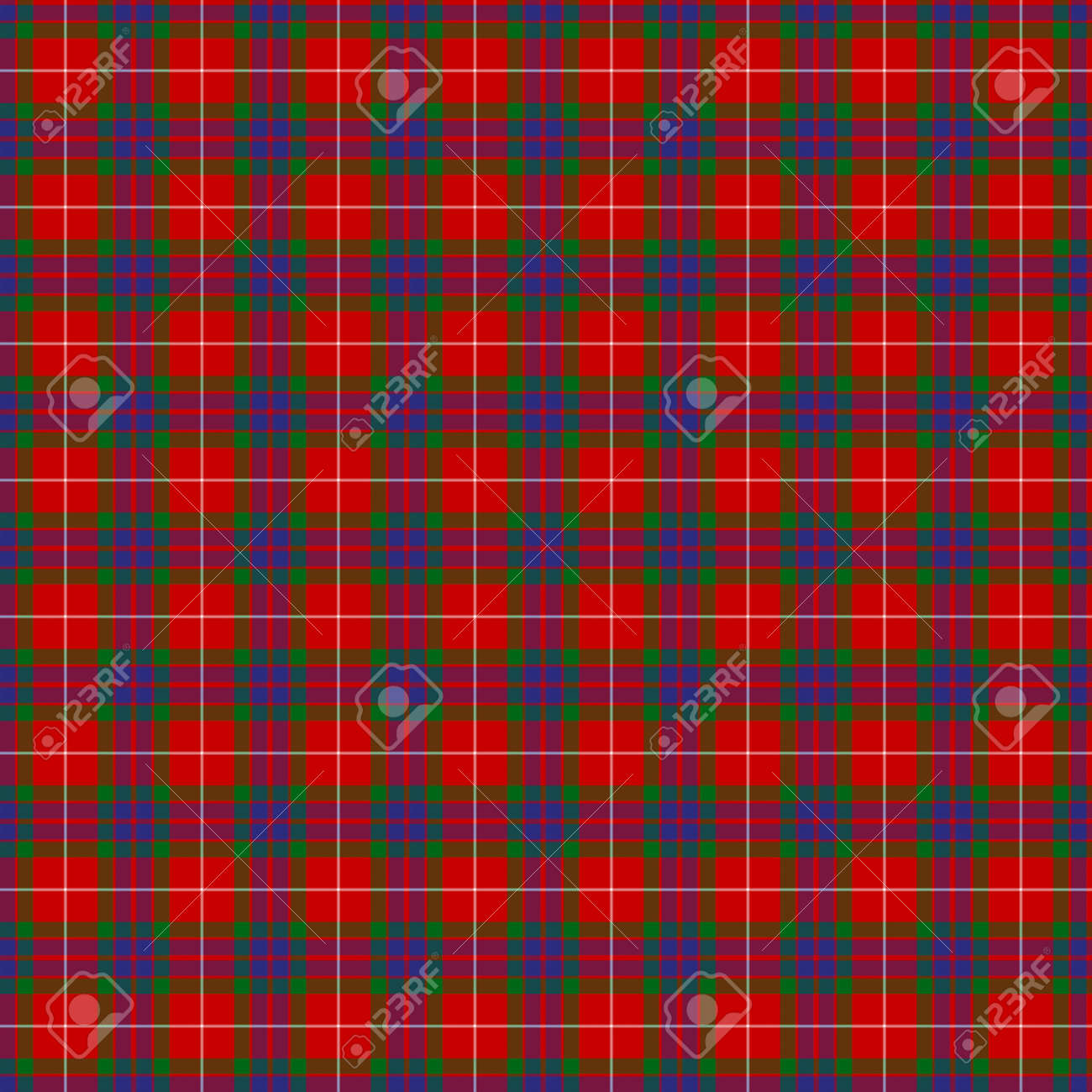 A seamless patterned tile of the clan Fraser tartan