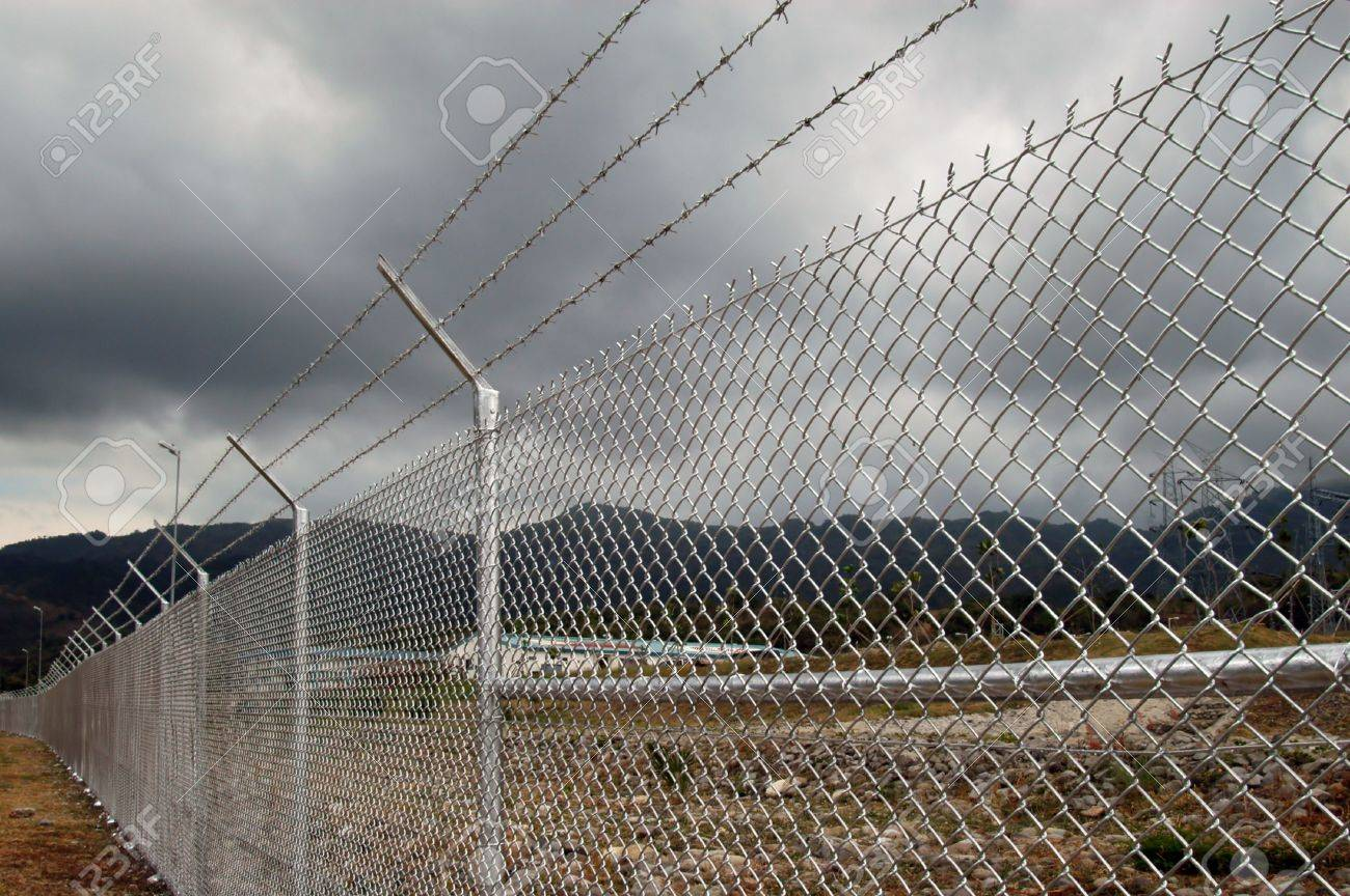 Cyclone Wire Fence Stock Photo Picture And Royalty Free Image Image 2237614