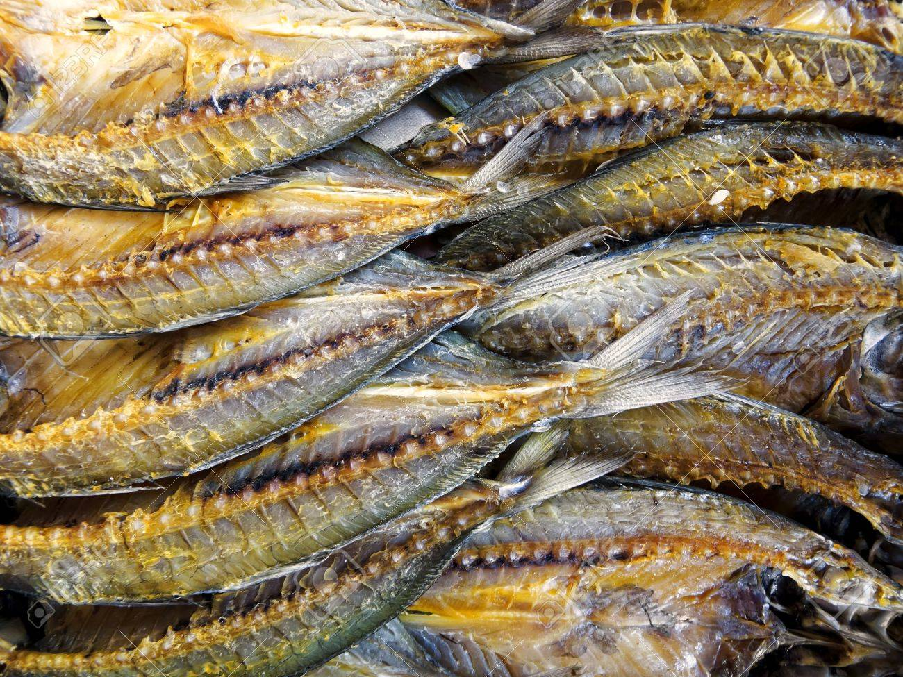 Dried And Salted Fish In Asian Market Stock Photo, Picture And ...