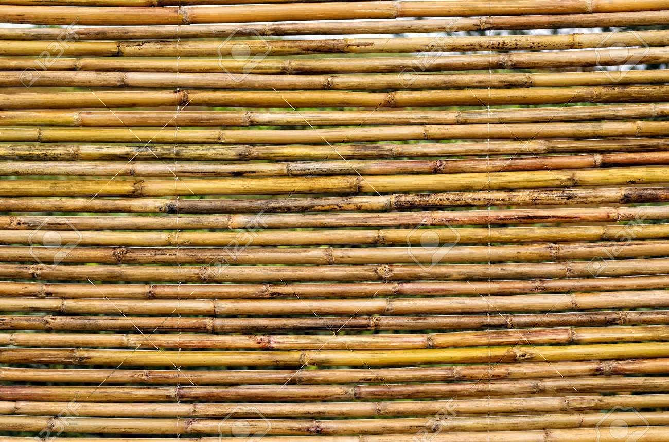Full Frame Der Chinesischen Bambus Jalousien Hangen Im Freien