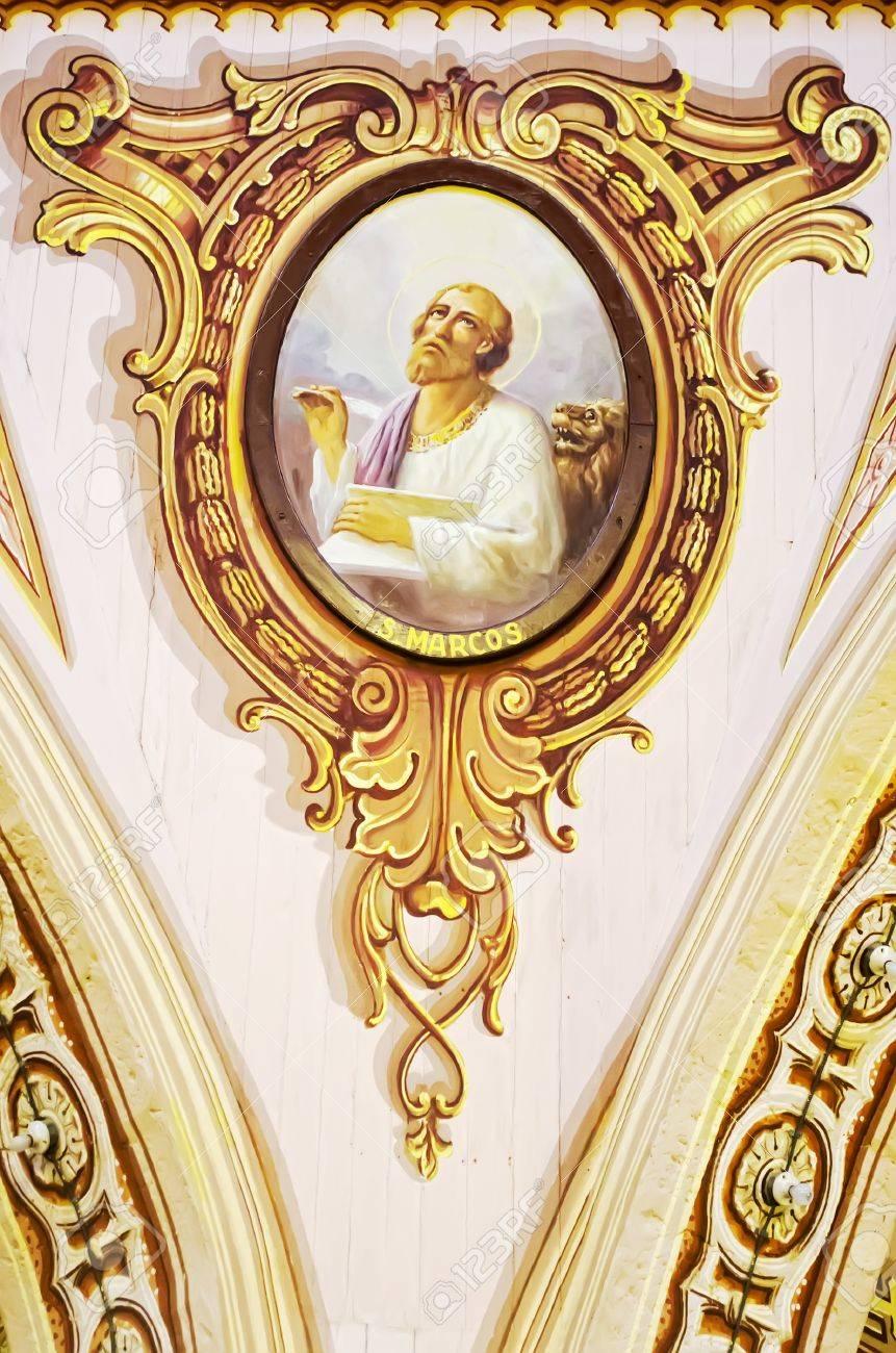 Saint Marc L Ecrivain Evangile Est Represente Dans Un Tableau
