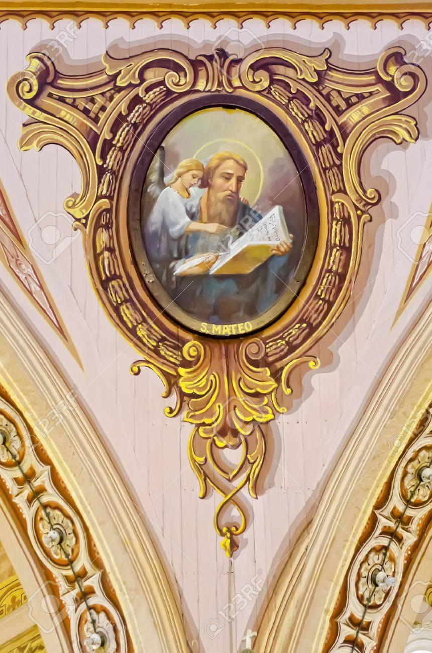 St Matthew L Evangeliste Est Represente Dans Un Tableau Vieux De