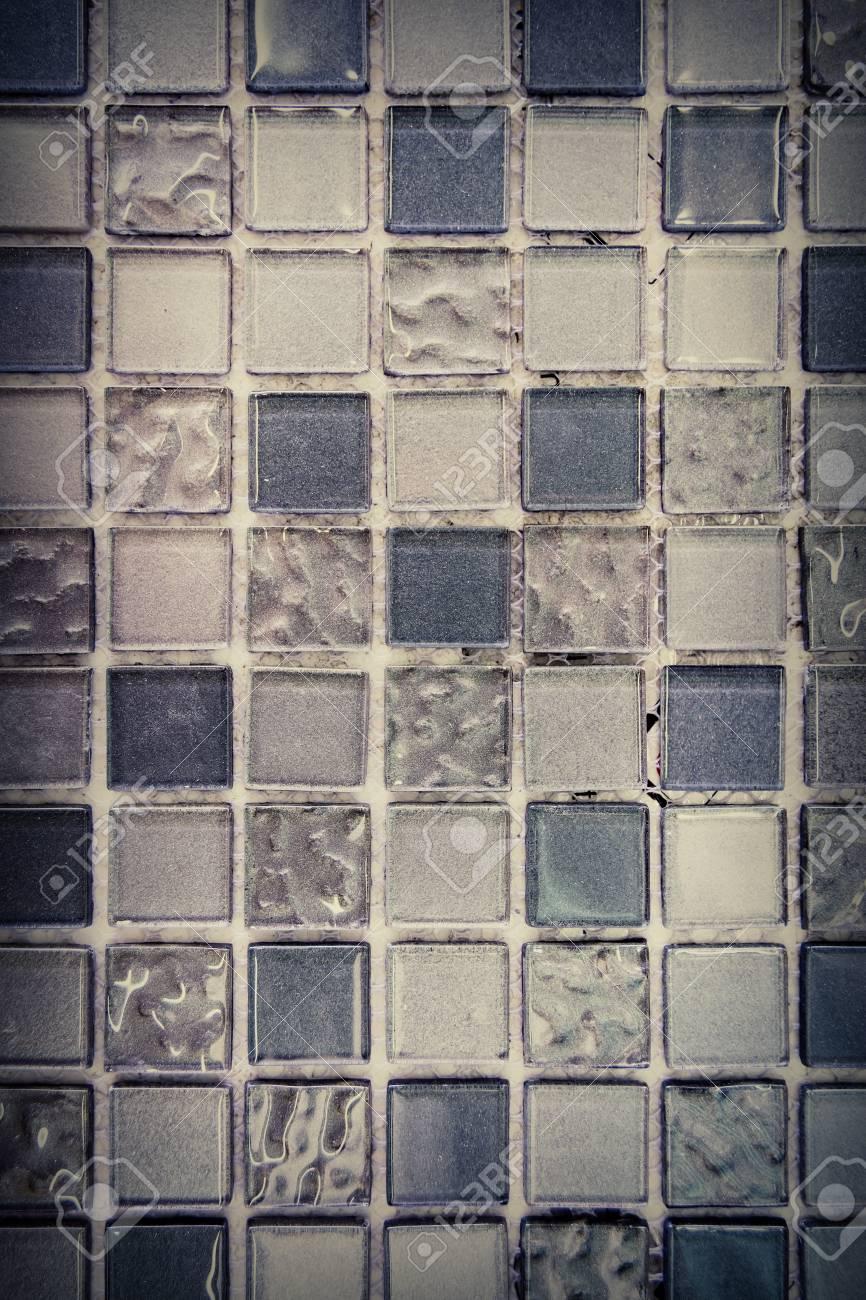 Retro Mosaik Wand Design Fur Badezimmer Oder Kuche Lizenzfreie Fotos