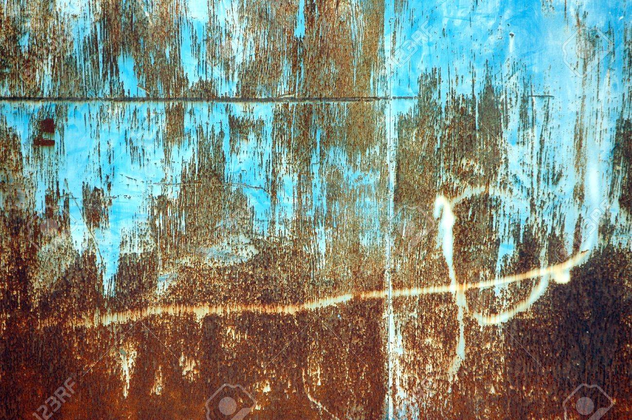 detail textures and patterns of rusty iron plate Stock Photo - 11170735