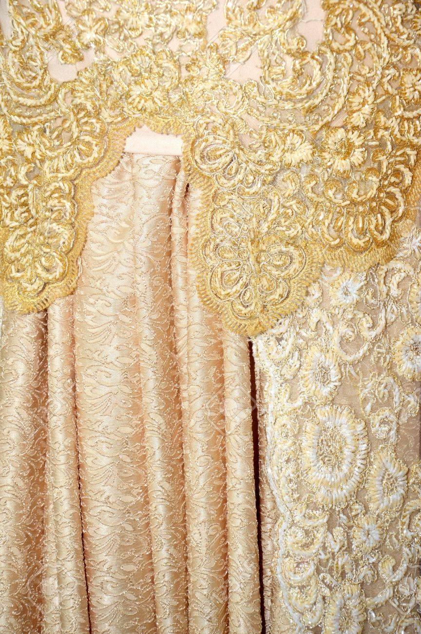 Detailed Indonesian Kebaya Traditional Wedding Dress On White ...