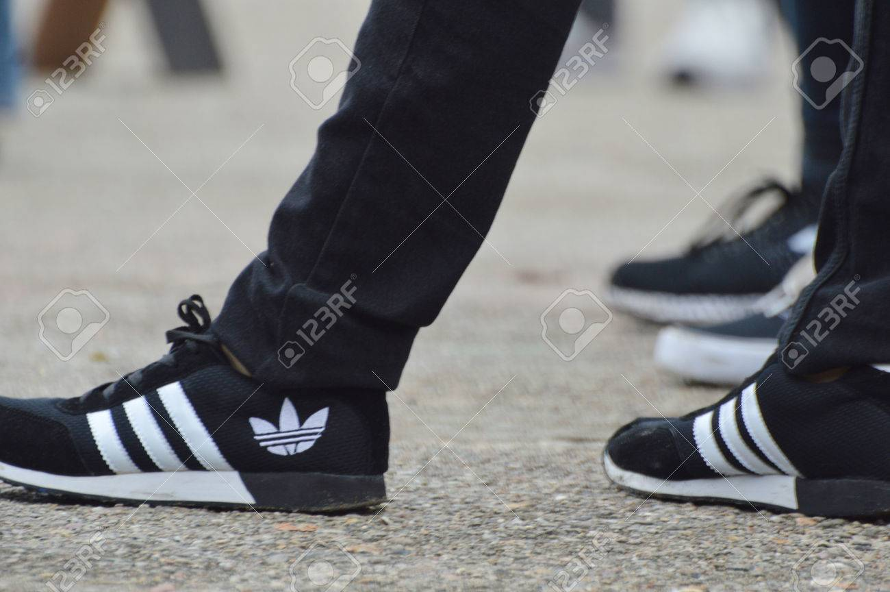 TARAKAN, INDONESIA. 22th January 2017. black adidas shoes