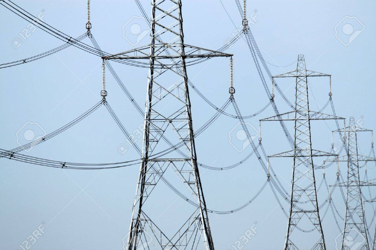 close up of an electricity pylons Stock Photo - 18287169