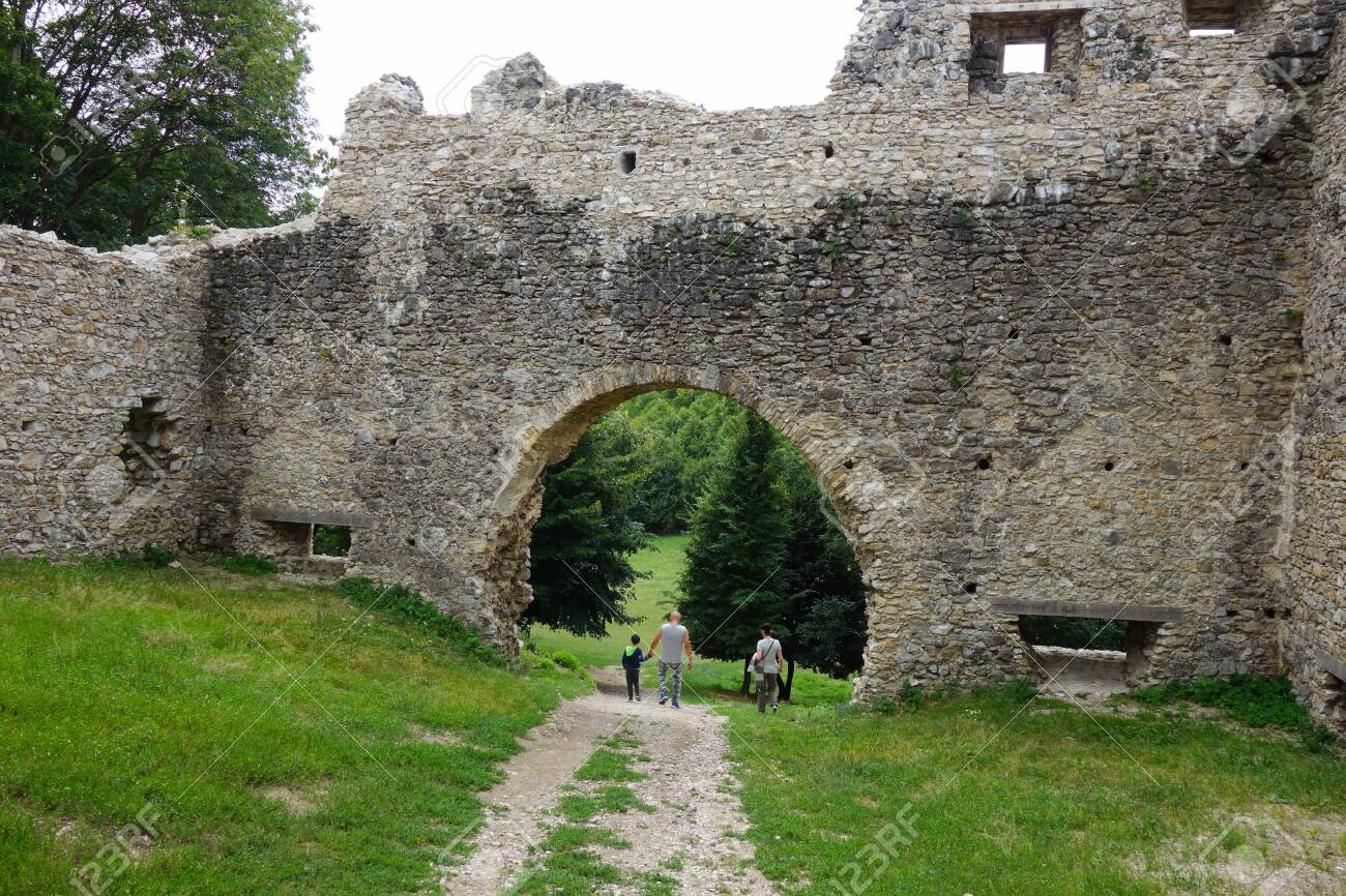 Ruins Brekov Castle, Slovakia Stock Photo, Picture And Royalty Free Image.  Image 133112940.
