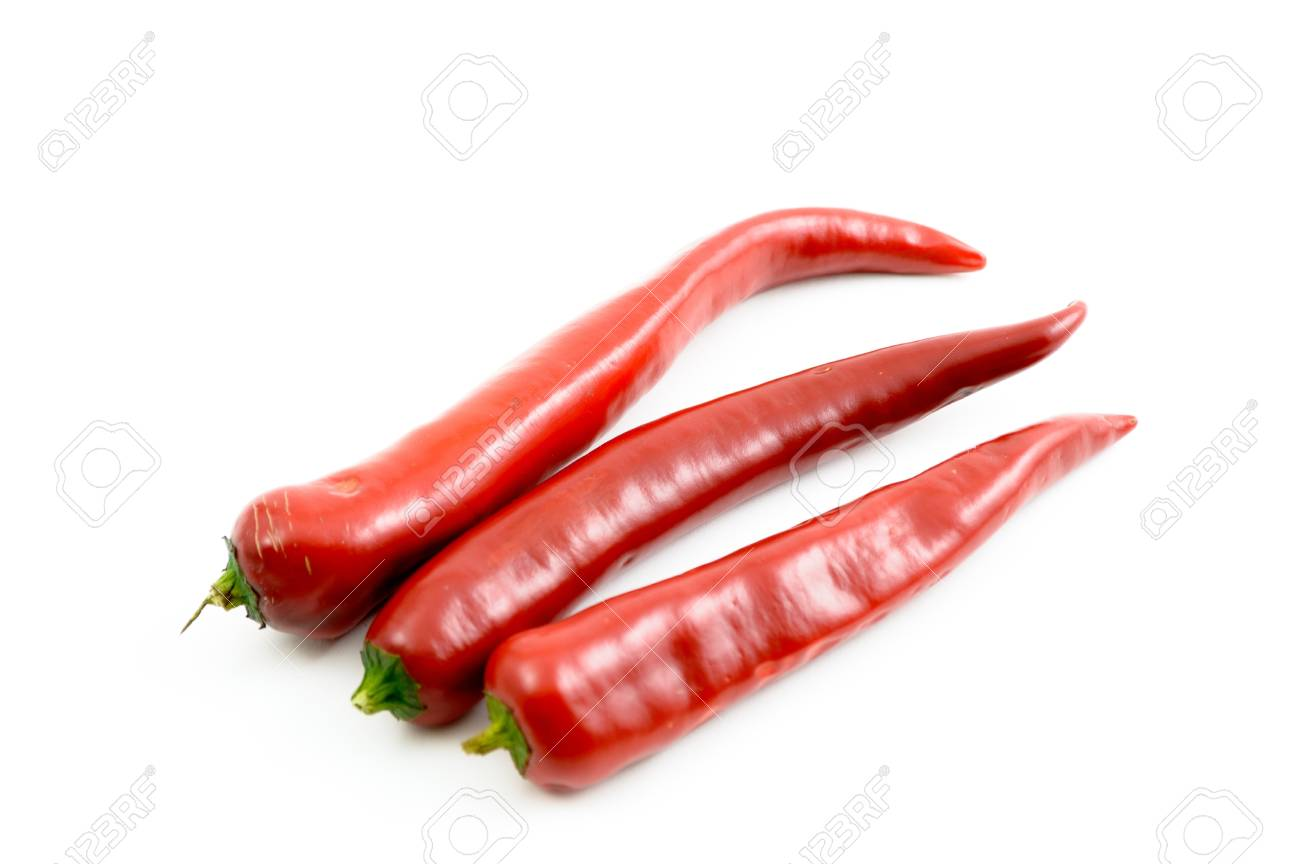 red chili peppers isolated on a white background Stock Photo - 15674816