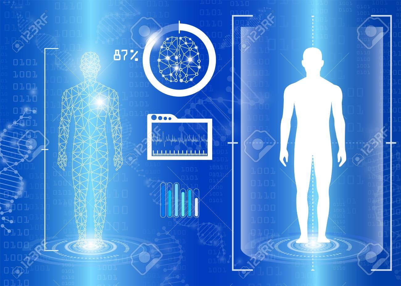Abstrakte Hintergrund Technologie-Konzept In Blaues Licht ...