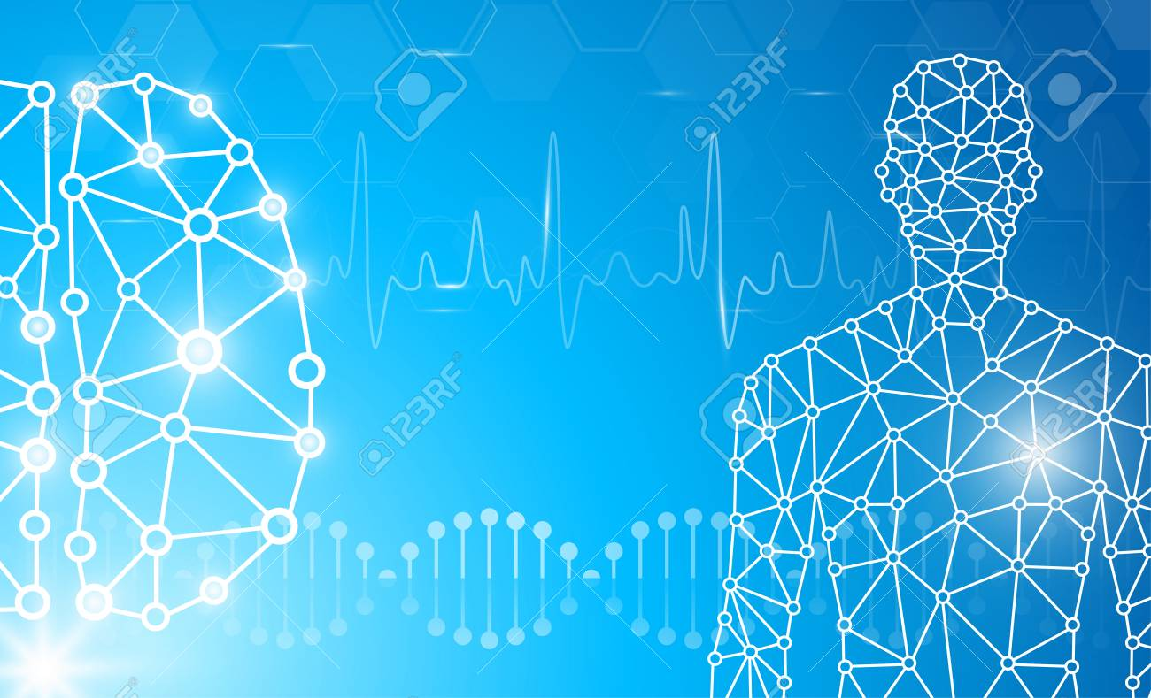 Abstract Background Technology Concept In Blue Light Human Body Royalty Free Cliparts Vectors And Stock Illustration Image 110900333