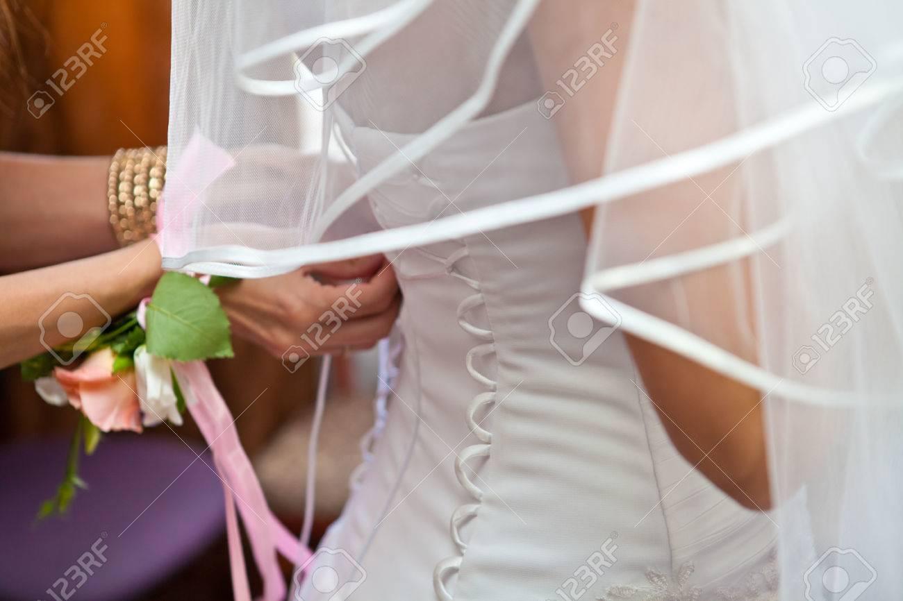 Braut Schnüren Sich Oben Korsett-Kleid Lizenzfreie Fotos, Bilder Und ...