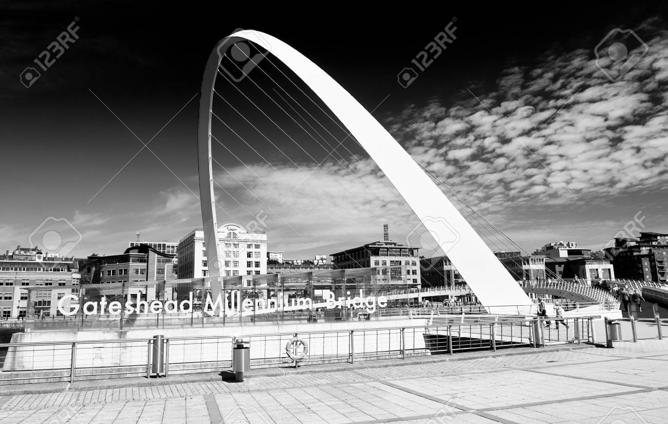 Newcastle upon tyne england uk august 13 2015black and white