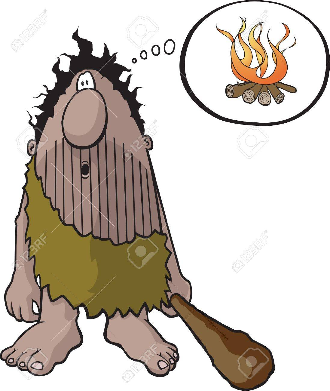 Cartoon Caveman  Vector and high resolution jpeg files are available Stock Vector - 16482319