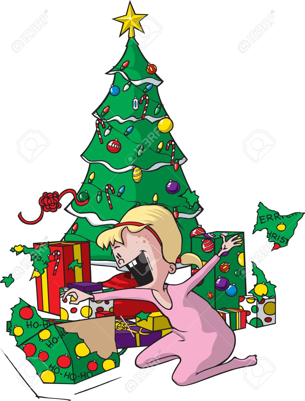 Cartoon Of An Excited Girl On Christmas Morning Layered Vector Royalty Free Cliparts Vectors And Stock Illustration Image 16493951 Even if it is not real, but artificial or even virtual. cartoon of an excited girl on christmas morning layered vector