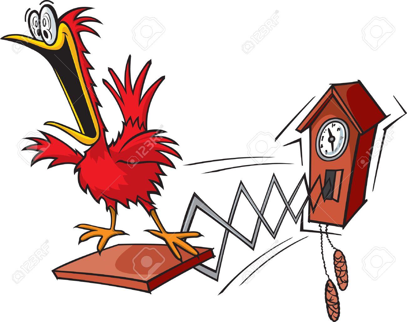 A cartoon cuckoo clock - 39564657
