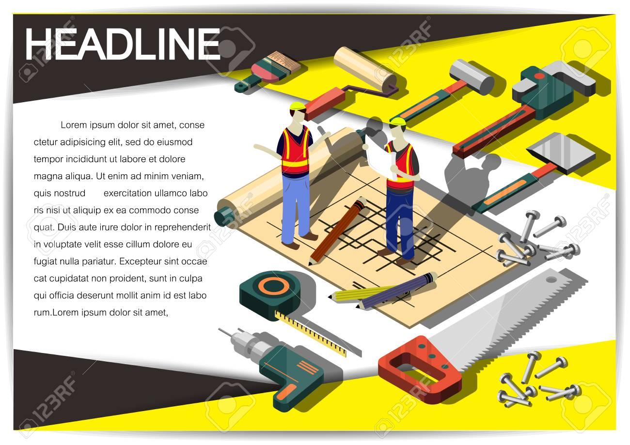 Kreative Bau Vorlage Flyer Broschüre Vektor-Papier-Design-Vorlage ...