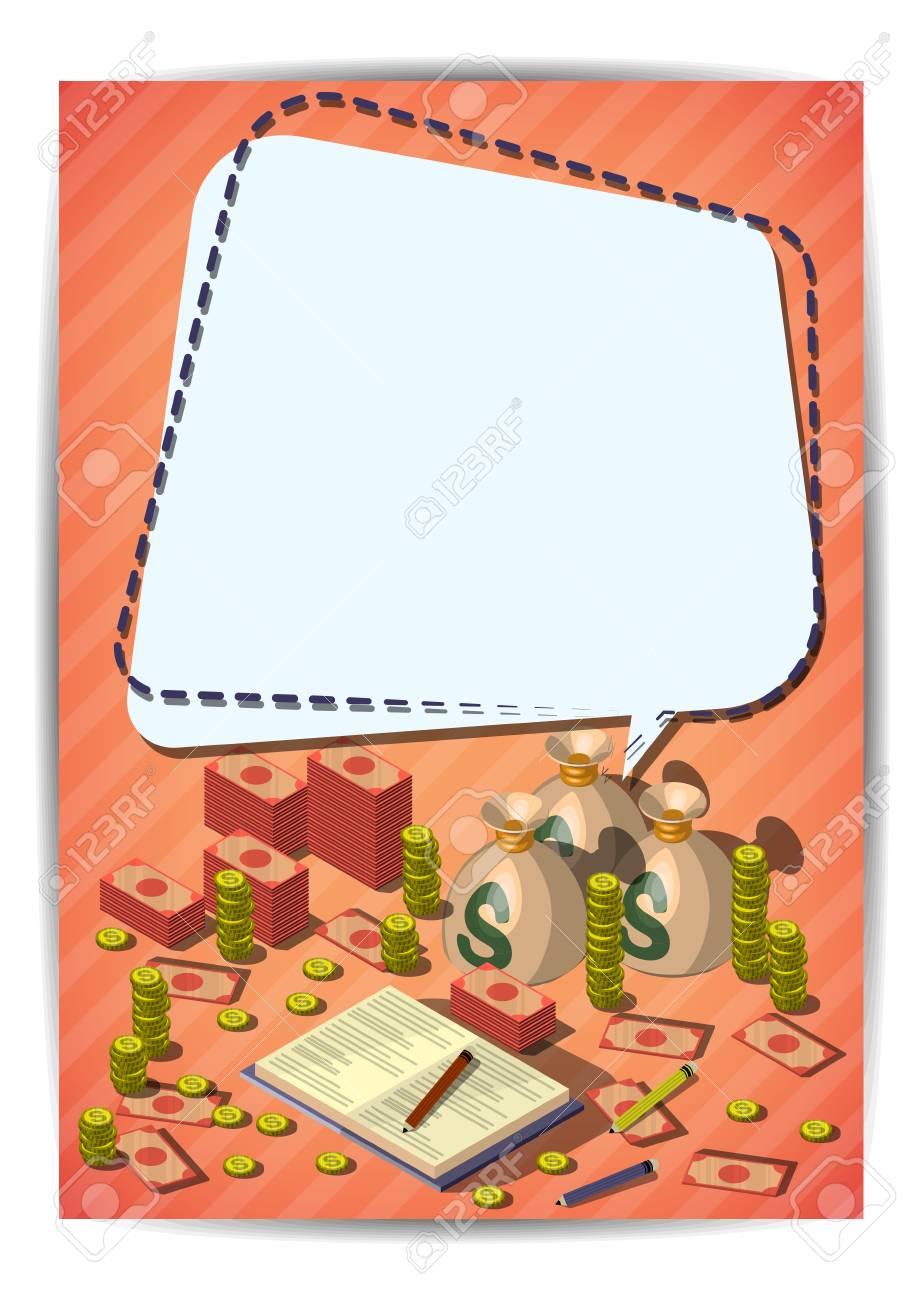 creative money template flyer brochure vector paper design template