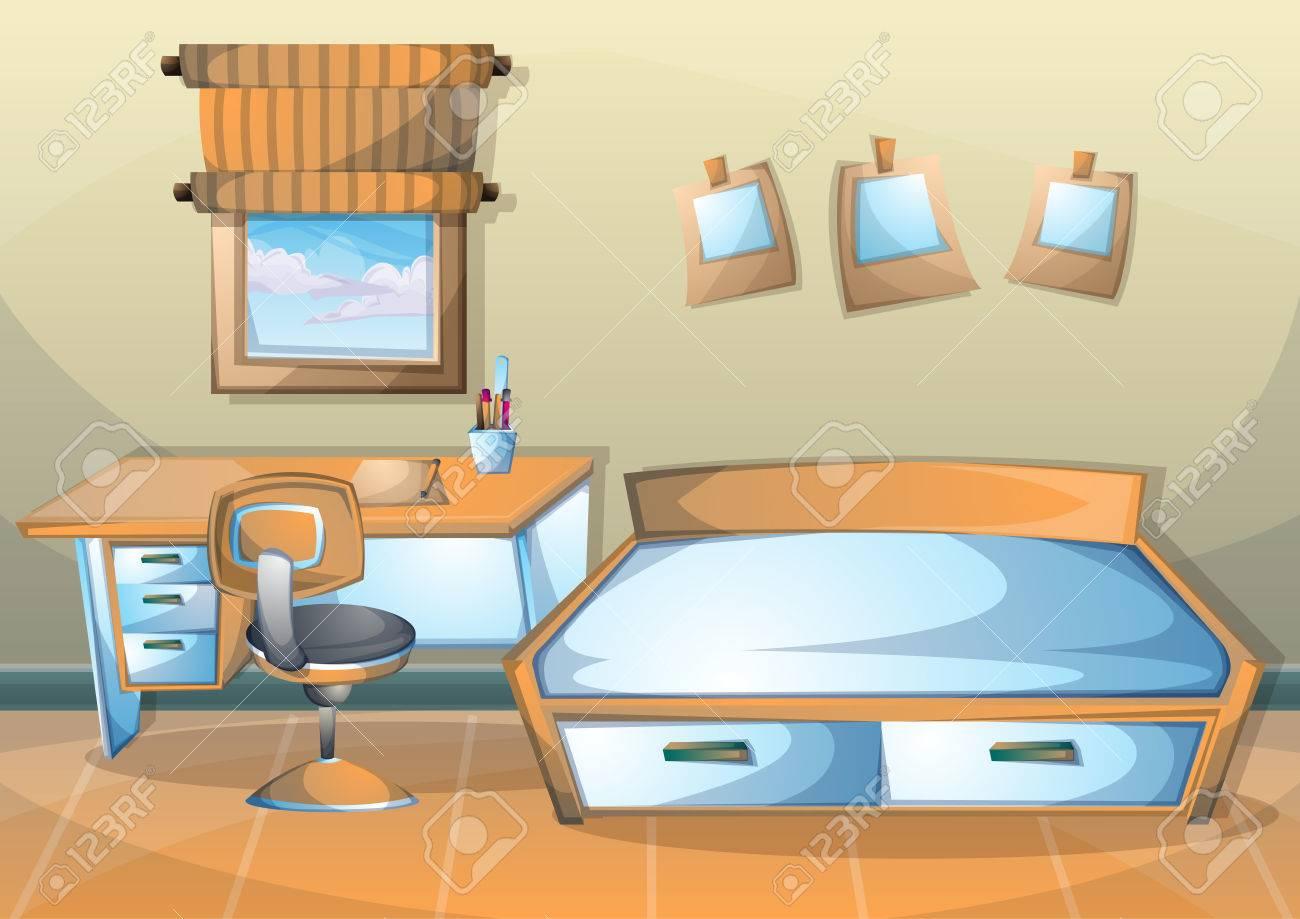 Dessin D Une Chambre D Enfant dessin animé illustration vectorielle chambre d'enfant intérieur avec des  couches séparées dans graphique 2d