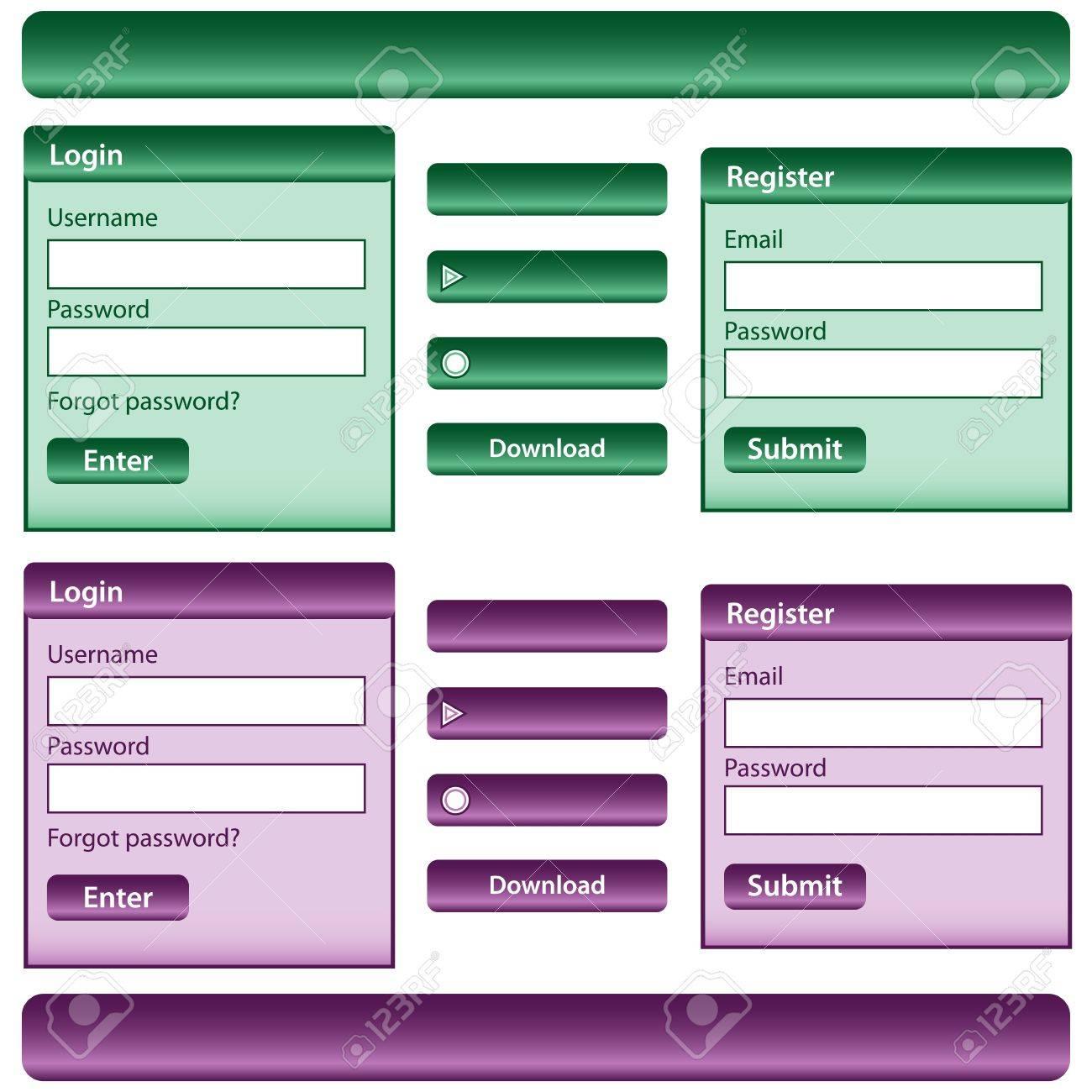 Free website templates menu bars