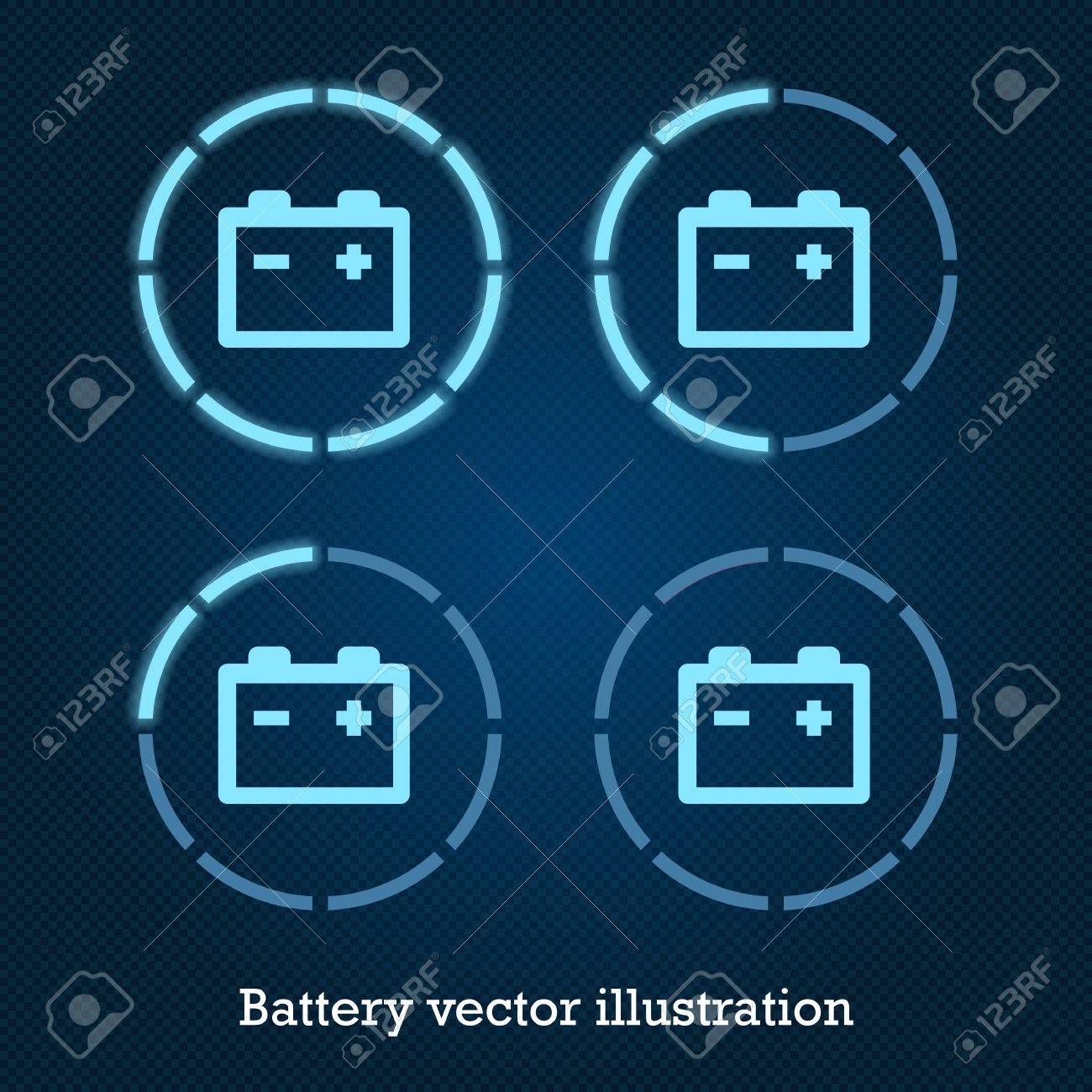 Vector car indicator icons blue battery royalty free cliparts vector car indicator icons blue battery stock vector 35960736 biocorpaavc