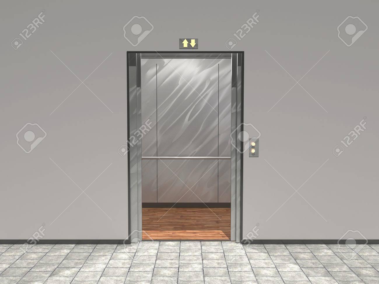 Doors Opening Open Elevator Door