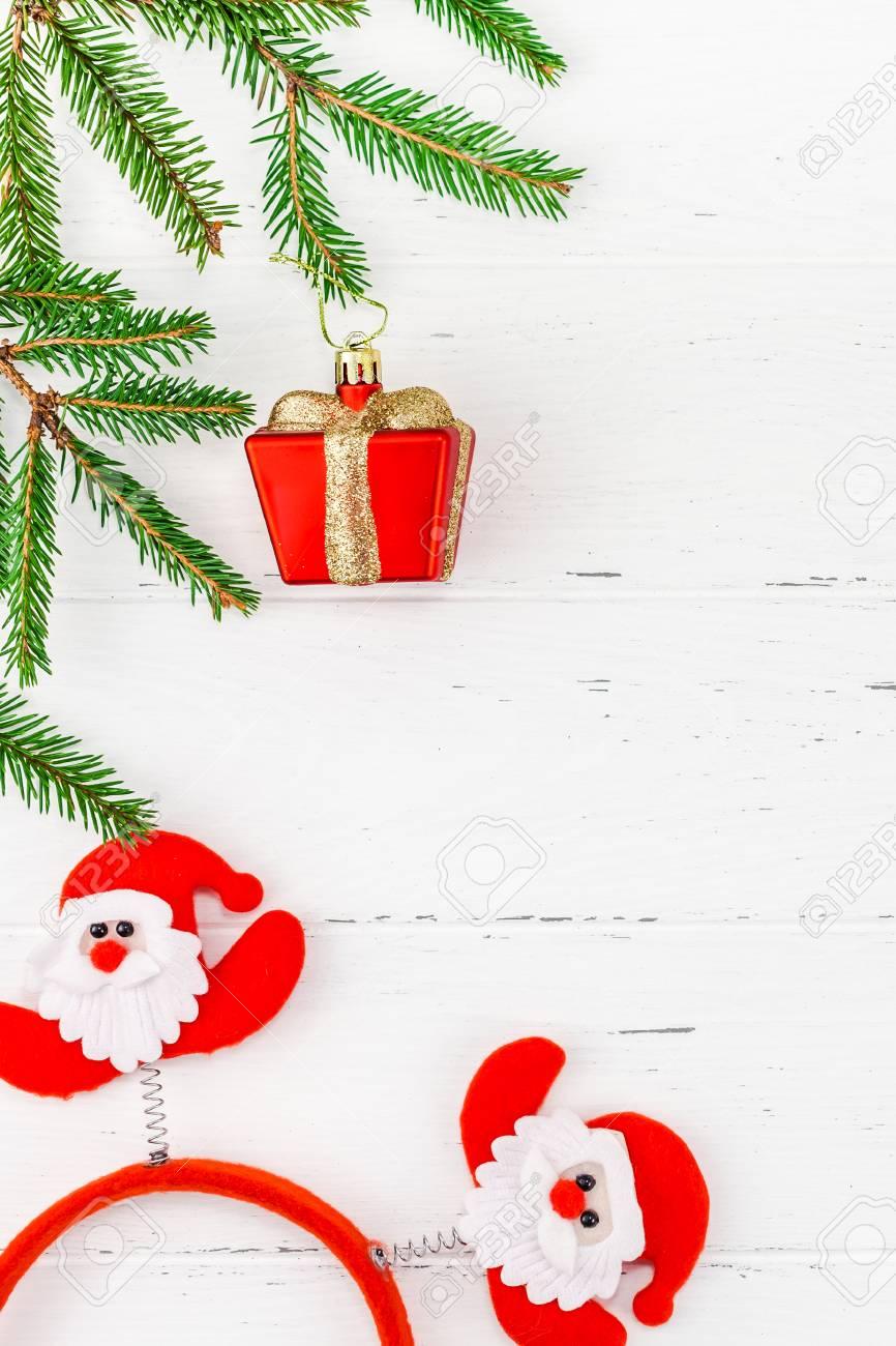 New Year Or Christmas Frame Flat Lay Top View Xmas Holiday ...