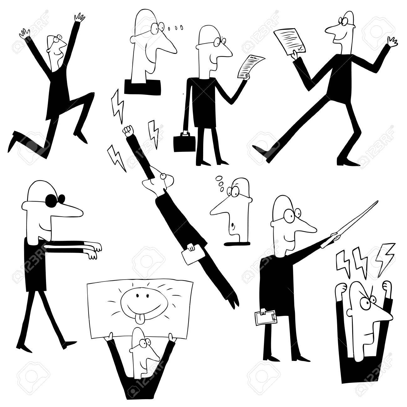 funny businessman Stock Vector - 14329505