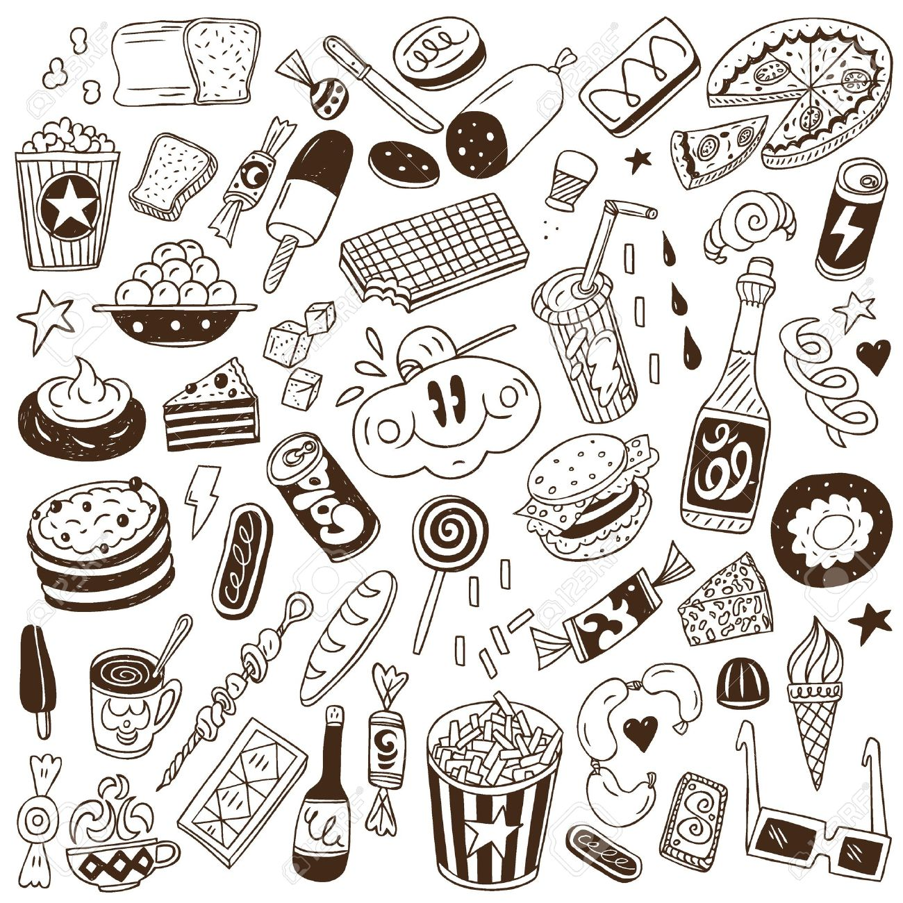 fast food - doodles Stock Vector - 20674554