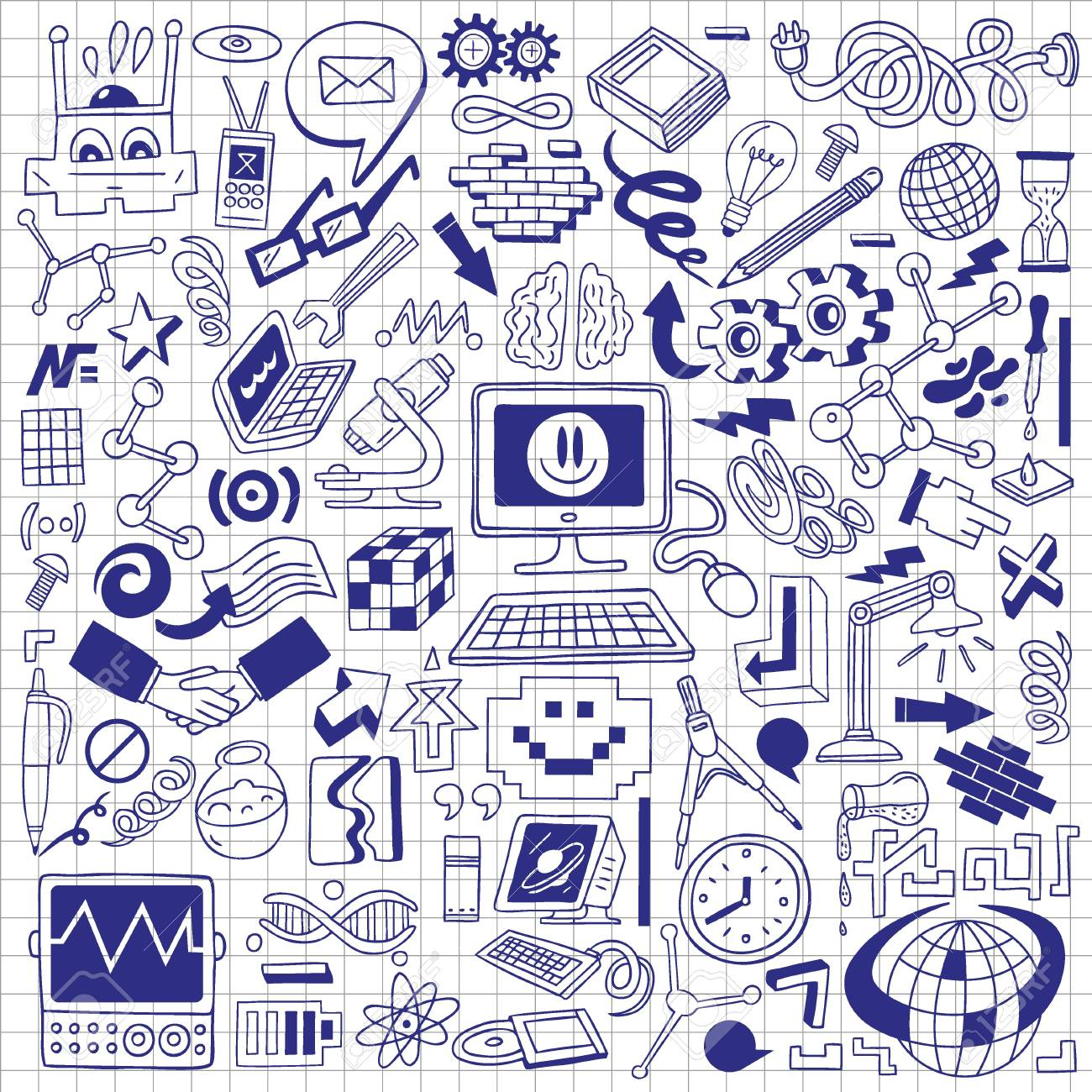 Science - doodles collection Stock Photo - 20674573