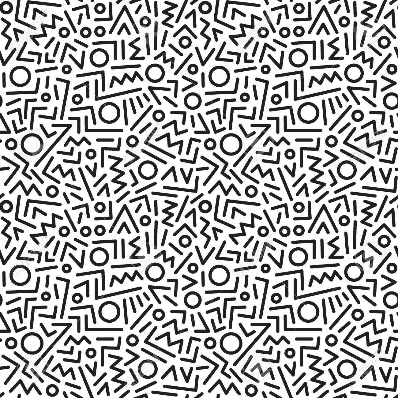 Patrones De Costura Abstractos Con Líneas, Elementos De Diseño ...