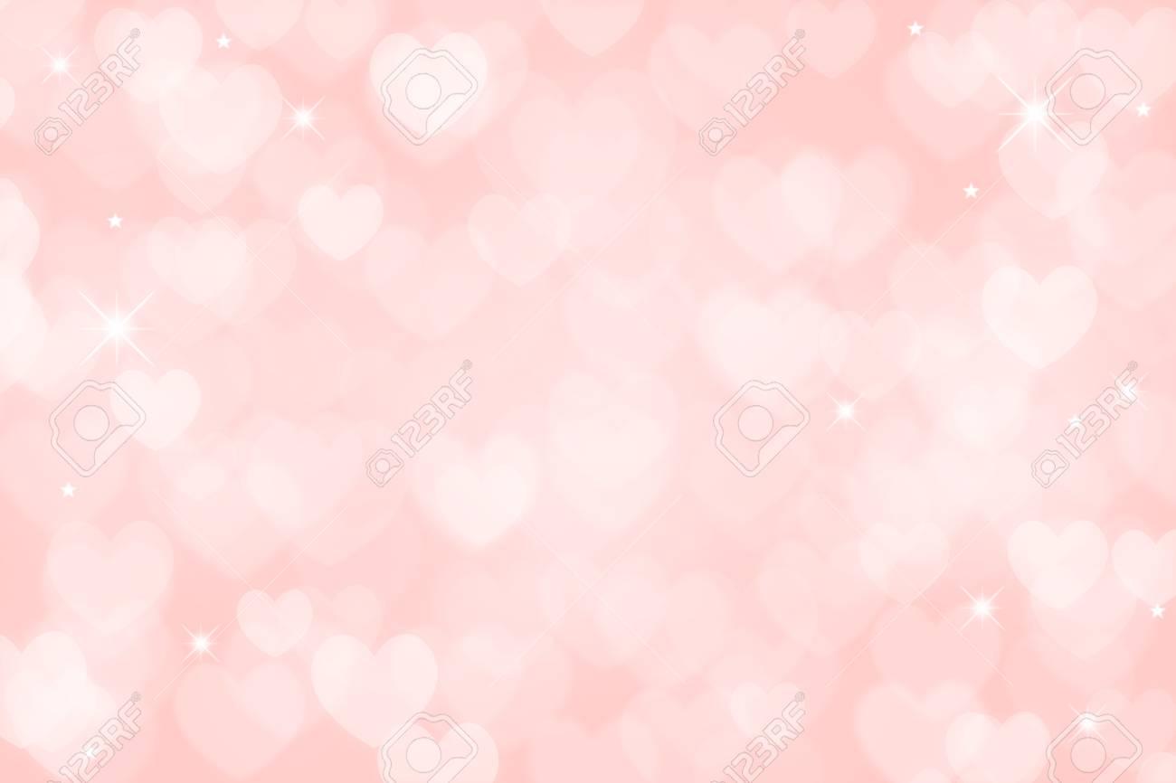 Heart Valentine Light Pink Background