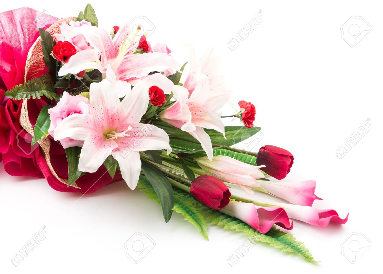 Bouquet flowers isolated on white background stock photo picture bouquet flowers isolated on white background stock photo 40464418 dhlflorist Image collections