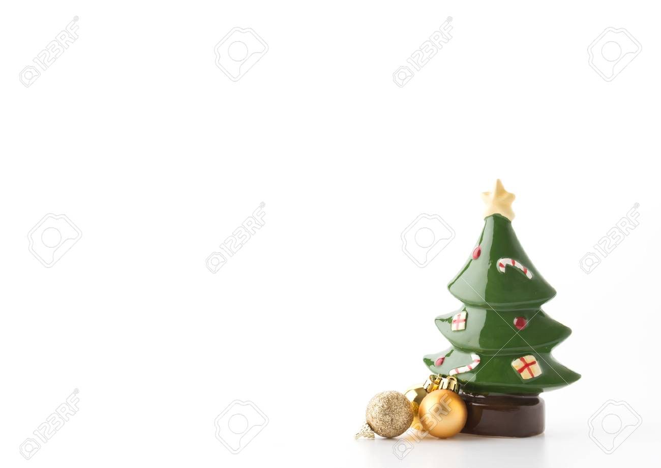 white ceramic christmas tree