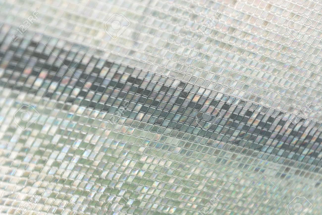 Piastrelle di vetro blu senza cuciture sfondo texture finestra