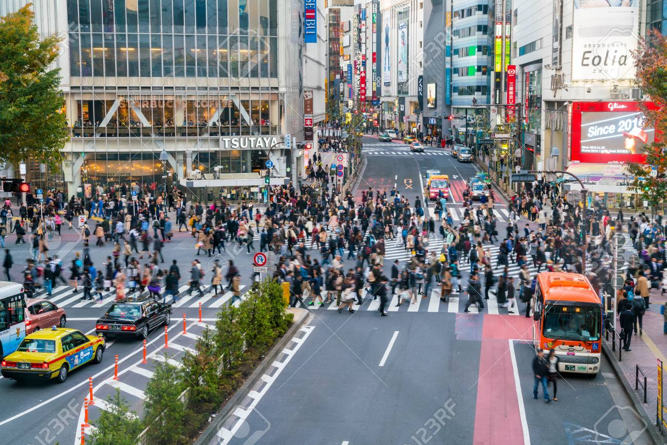 66b9f363f Stock Photo - Tokyo, Japan, Nov 17, 2016: Shibuya Crossing Of City street  with crowd people on zebra crosswalk in Shibuya town. Shibuya is a special  ward ...