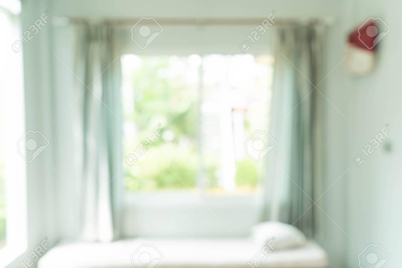 Innendekoration Des Abstrakten Unschärfevorhangs Im Wohnzimmer Mit ...