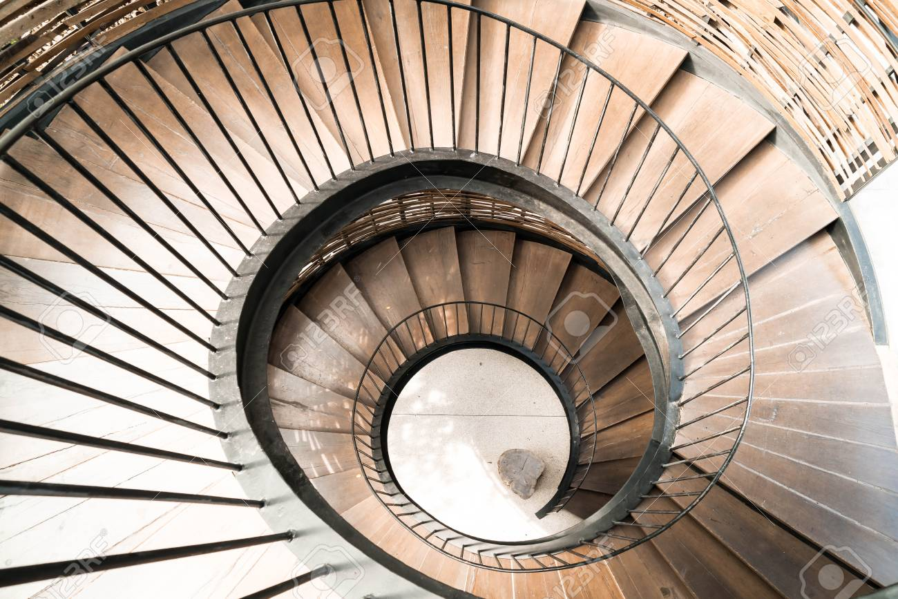 Amazing Spiral Circle Staircase Decoration Interior   Vintage Effect Filter Stock  Photo   78608145