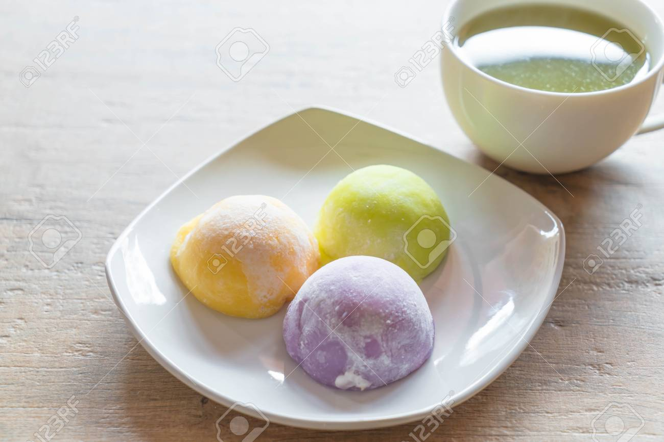 Mochi Ice Cream On Plate Stock Photo Picture And Royalty Free Image