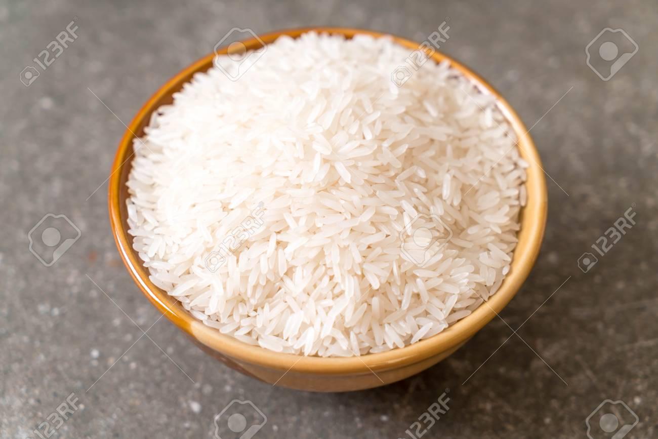 White Raw Thai Jasmine Rice Stock Photo Picture And Royalty Free
