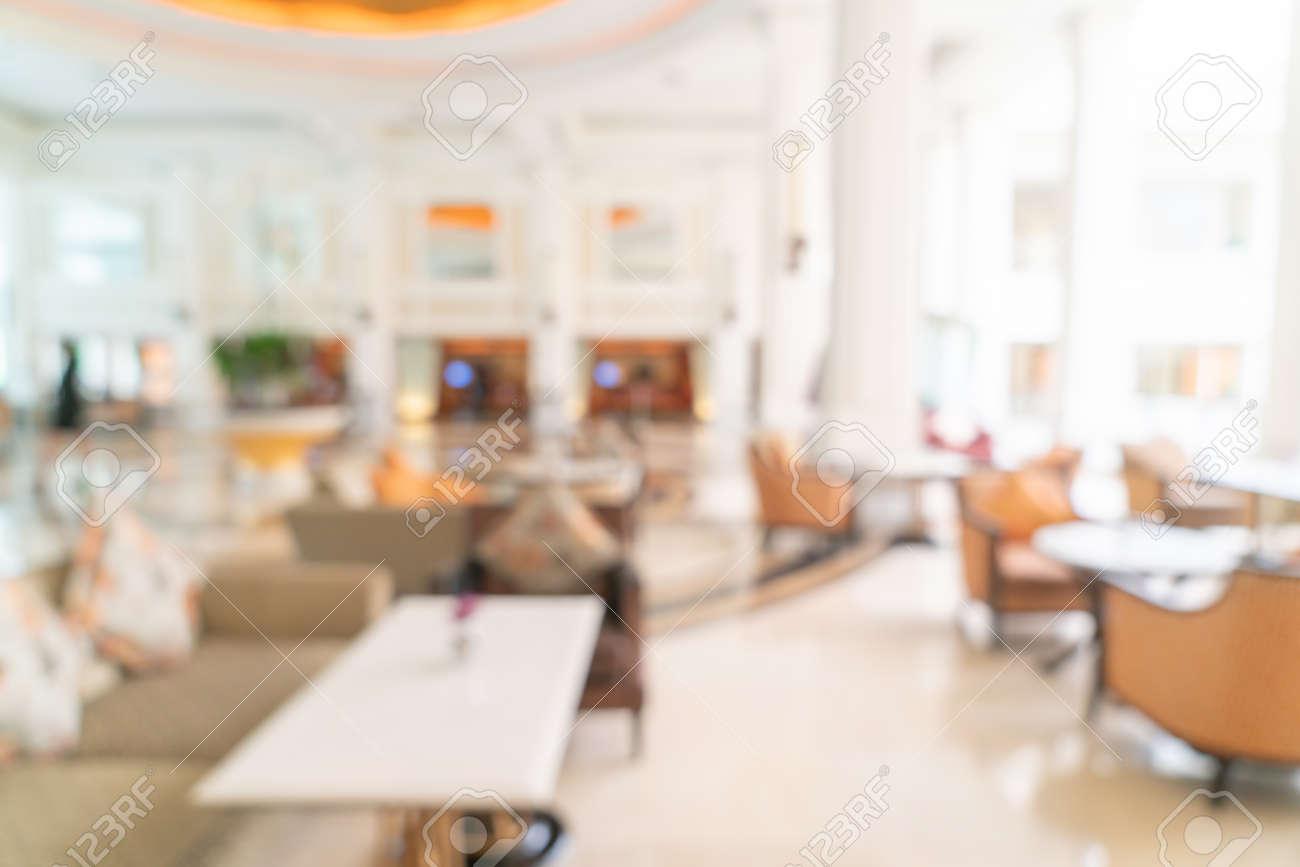 Abstract blur luxury hotel lobby - 143340410