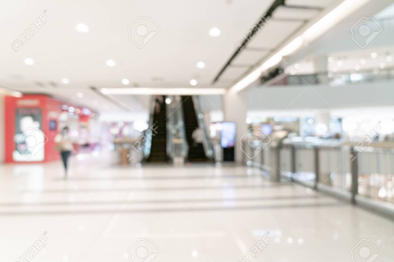 abstract blur shopping mall and retail store for background - 151423363